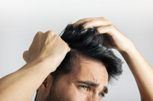 man with beautiful hair